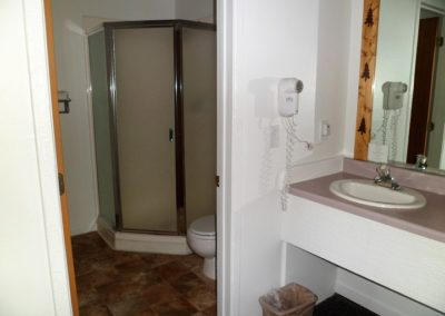 Shower stall in all rooms